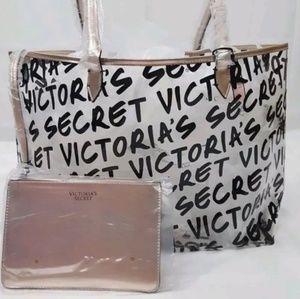 Victoria Secret Clear Graffiti Rose Gold